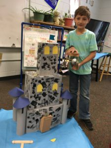 "Julia Sullivan's class at Holly Springs-Motlow Elementary enjoys castle building, thanks to their BIG grant ""Shout Out to Shakespeare!"""