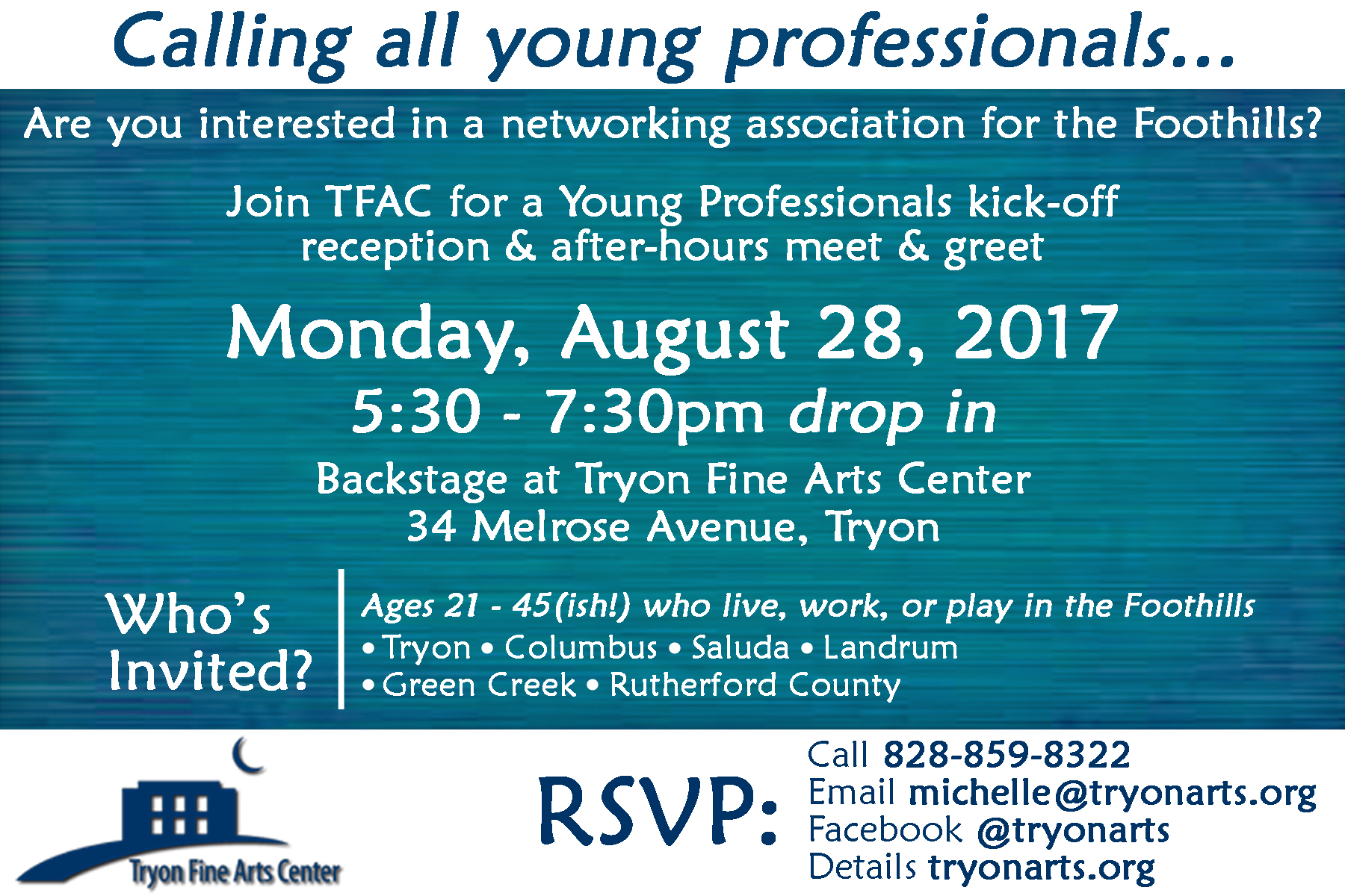Young Professionals Tryon Fine Arts Center