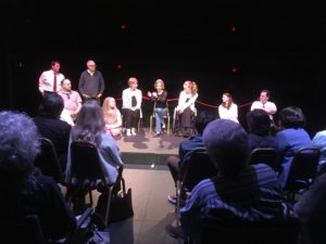 Past Dark Horse Theater presentation featuring New York playwright Cate Allen and a company of local actors.