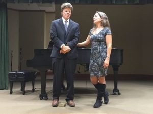 Peter and me singing