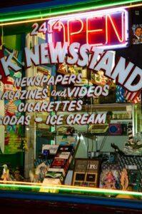 Neon newstand